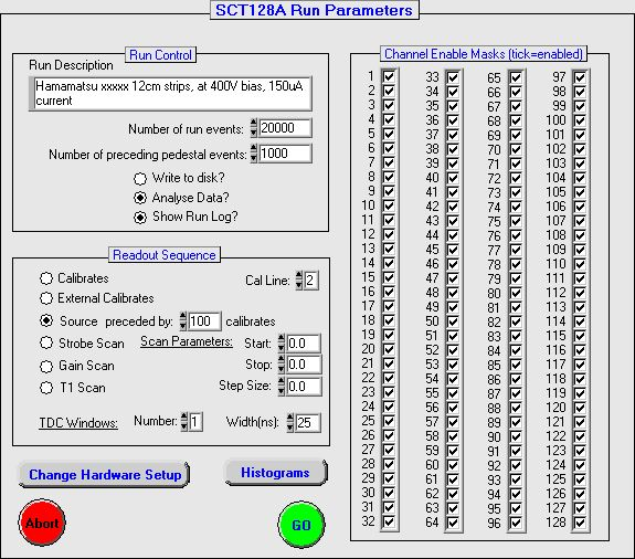 sct128 Readout with LabView